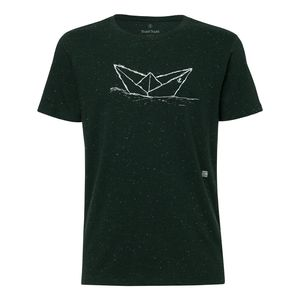 ilovemixtapes Paperboat T-Shirt white/heather scarab green made of 100% organic cotton // GOTS & Fairtrade certified