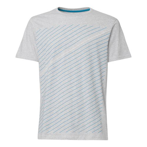 ThokkThokk Thin Striped T-Shirt deep sea & white/grey melange aus 100% Biobaumwolle // GOTS und Fairtrade zertifiziert