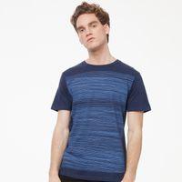 Bild 2 - Strokes T-Shirt blue/midnight melange GOTS & Fairtrade