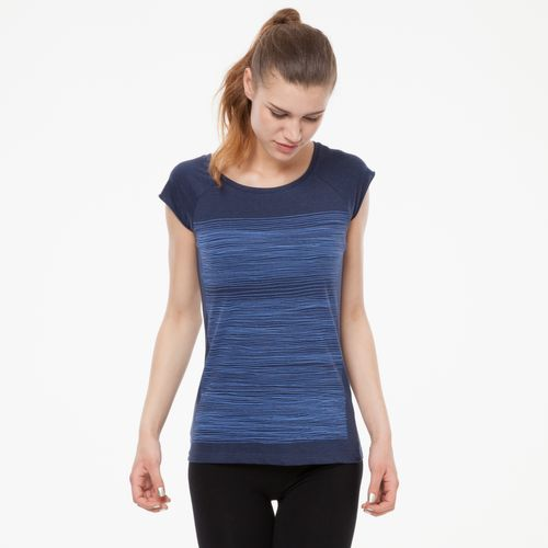 ThokkThokk Strokes Cap Sleeve blue/midnight melange made of 100% organic cotton // GOTS and Fairtrade certified