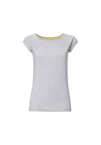 ThokkThokk Thin Striped Cap Sleeve yellow & white/grey melange made of 100% organic cotton // GOTS and Fairtrade certified