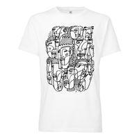 100for10 Lukas Schönthal T-Shirt black/white GOTS & Fairtrade