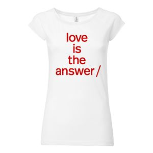 Süpergrüp Love is the answer Cap Sleeve white