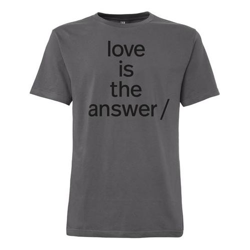 Süpergrüp Love is the answer Cap Sleeve black/grey made of organic cotton // Organic and Fair