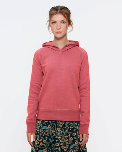 ThokkThokk Woman Hoodie Heather Cranberry made of organic cotton // Organic and Fair