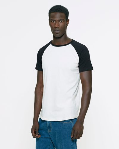 ThokkThokk Unisex Baseball T-Shirt White/Black made of 100% organic cotton // Organic and Fair