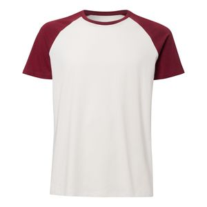 ThokkThokk Unisex Baseball T-Shirt Vintage White/Burgundy made of 100% organic cotton // Organic and Fair