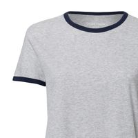 Bild 3 - Damen Ringer T-Shirt Heather Grey/French Navy Bio & Fair