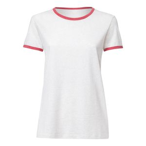 ThokkThokk Woman Roundneck T-Shirt Cream Heather Grey/Heather Cranberry made of 100% organic cotton // Organic and Fair