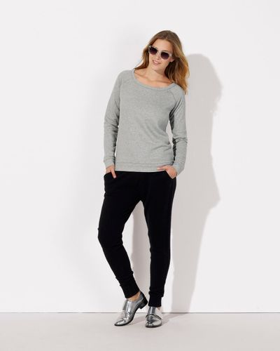 ThokkThokk Damen Wide Neck Sweatshirt Heather Grey aus Biobaumwolle // Bio und Fair