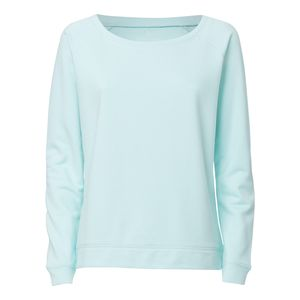 ThokkThokk Woman Wide Neck Sweatshirt Caribbean Blue made of organic cotton // Organic and Fair