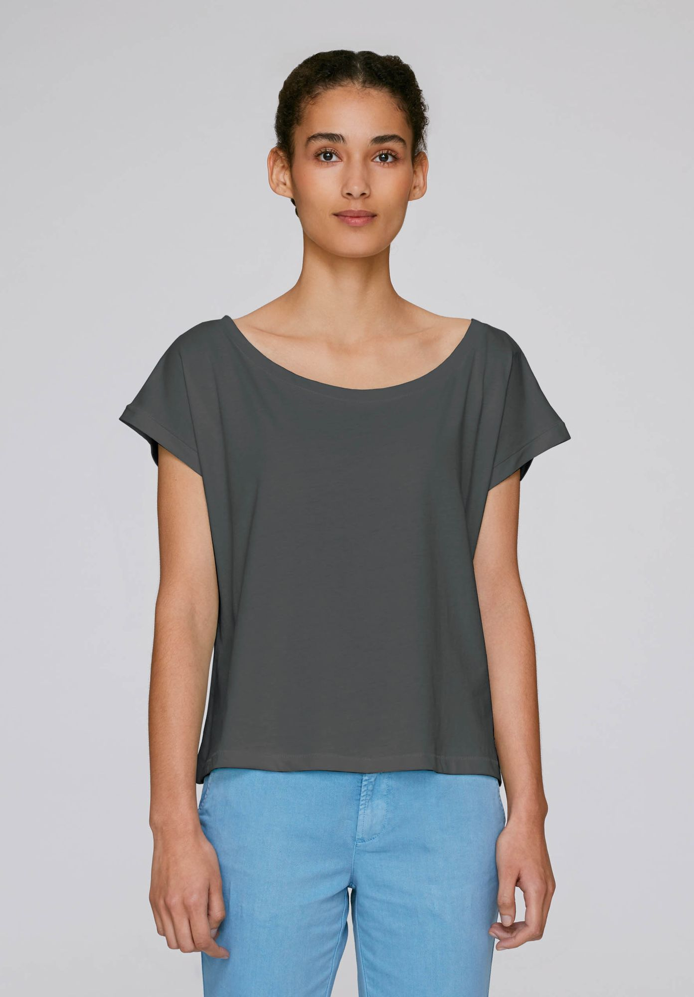 ThokkThokk Damen Oversized Cropped T-Shirt Bio Fair