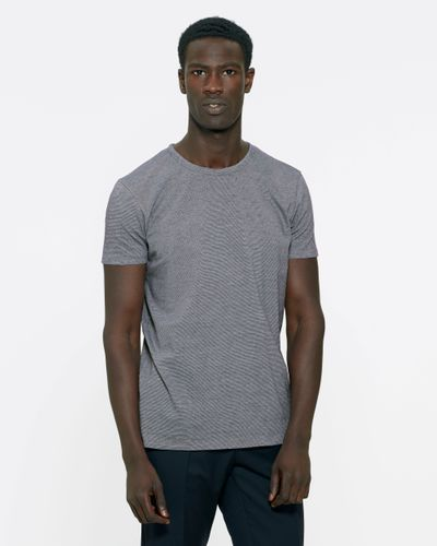 ThokkThokk Man Round Neck T-Shirt Navy/Vintage White made of 100% organic cotton // Organic and Fair