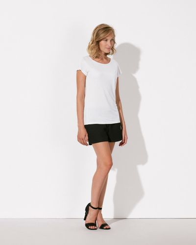 ThokkThokk Woman Modal T-Shirt White made from sustainable modal fabric // Fair
