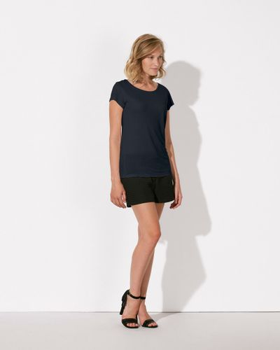 ThokkThokk Woman Modal T-Shirt Stretch Limo made from sustainable modal fabric // Fair