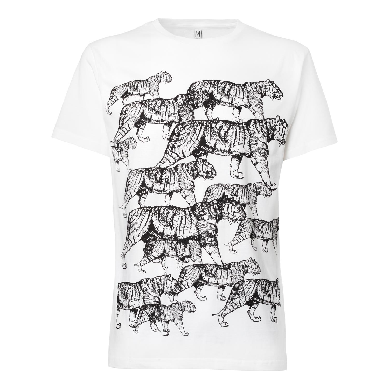 Tiger T-Shirt black/white GOTS & Fairtrade
