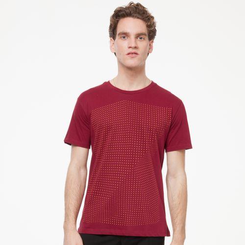 ThokkThokk Herren T-Shirt Crooked Dots Dunkelrot Bio Fair
