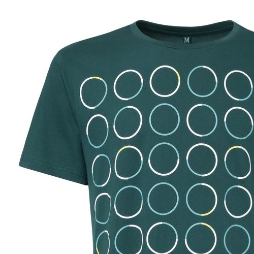 ThokkThokk Triple Polka T-Shirt deep teal made of 100% organic cotton // GOTS and Fairtrade certified