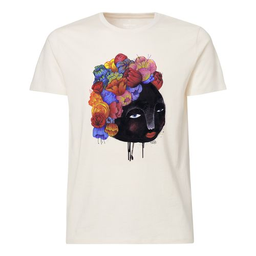 Yackfou Blumenhaar T-Shirt natural made of 100% organic cotton // Organic and Fair