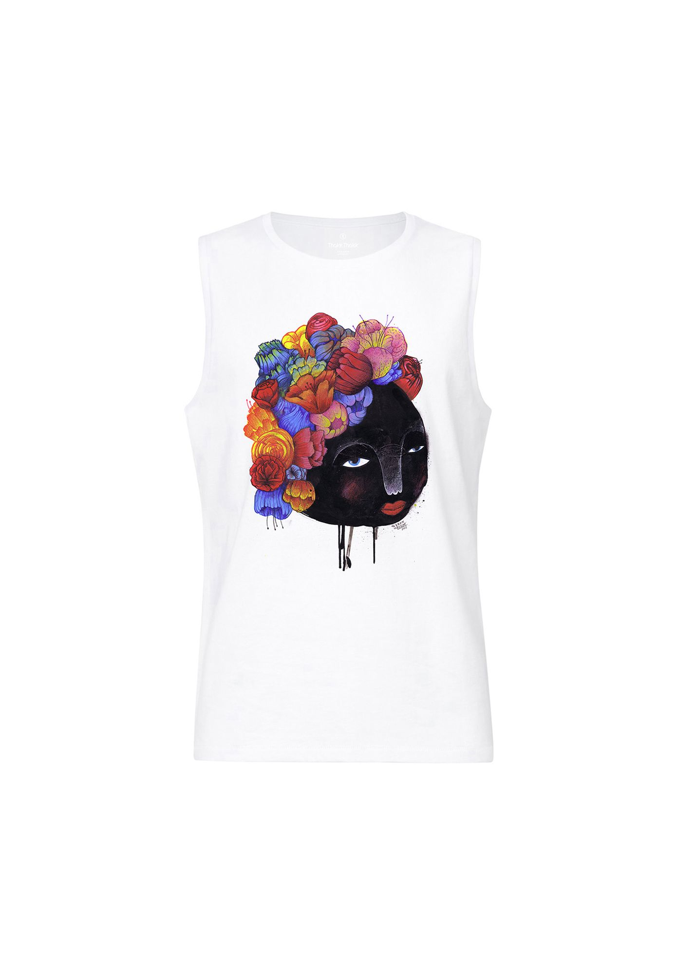 Sleeveless Shirt Blumenhaar White