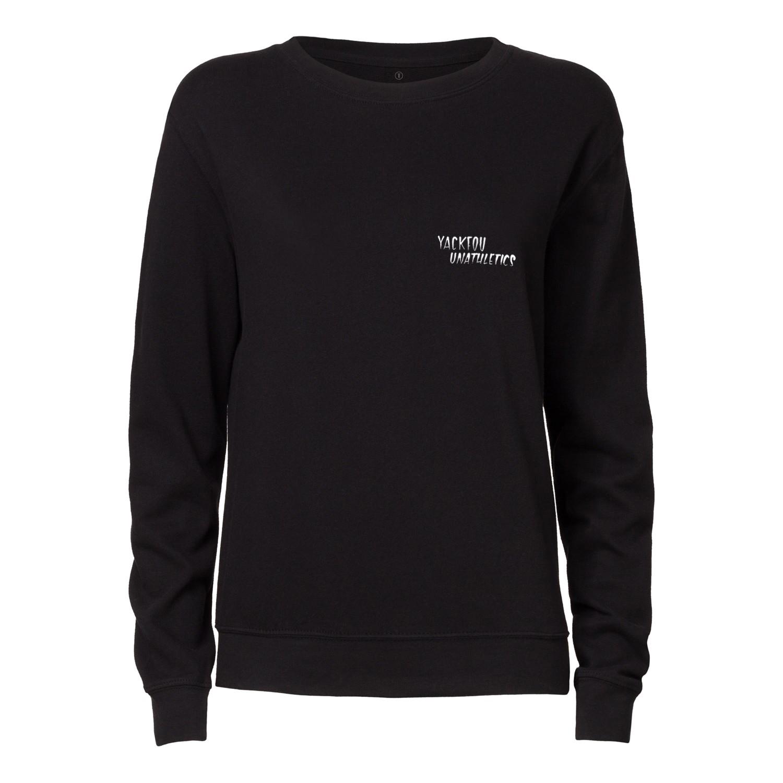 Yackfou Sporty Death Damen Rundhals Sweatshirt black Bio & Fair