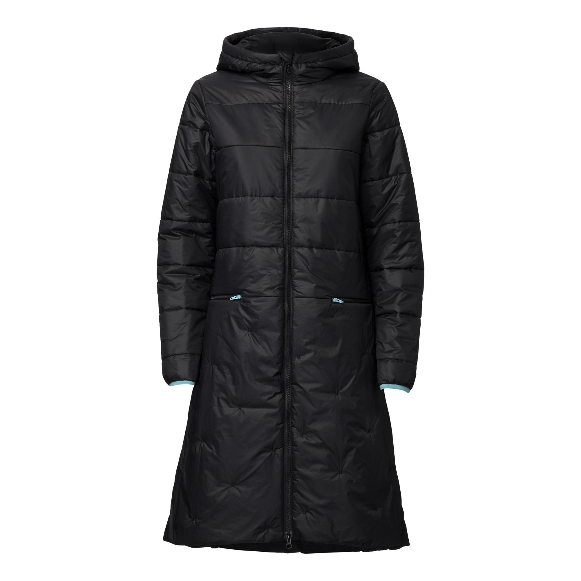 TT2003 Kapok Coat Woman Black PETA-Approved Vegan