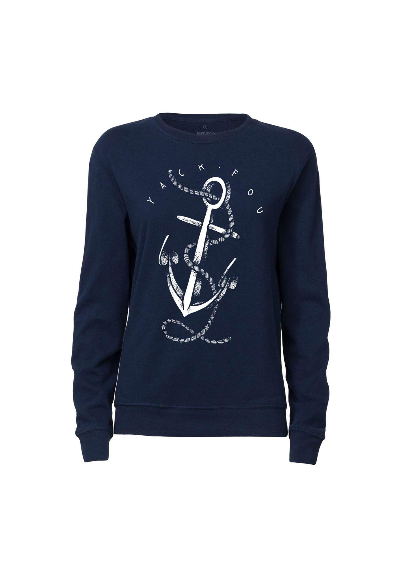 Rundhals Sweatshirt Anker Navy