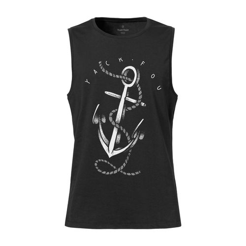 Yackfou Anker Sleeveless Shirt black made of 100% organic cotton // Organic and Fair