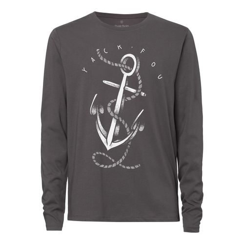Yackfou Anker Longsleeve anthracite made of organic cotton // Organic and Fair