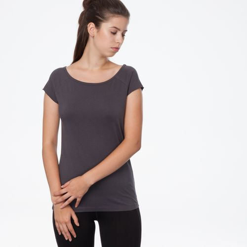 ThokkThokk TT01 Cap Sleeve Anthracite made of 100% organic cotton // GOTS and Fairtrade certified