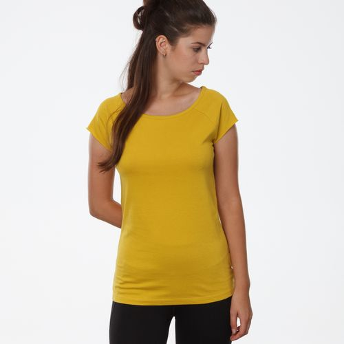 ThokkThokk TT01 Cap Sleeve 2.0 T-Shirt Woman Yellow made of organic cotton // Organic and Fairtrade certified