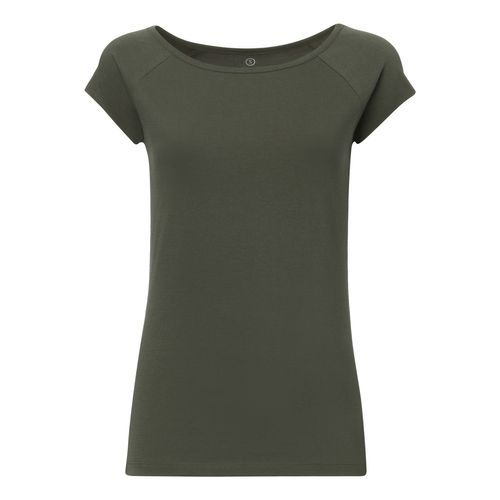 ThokkThokk TT01 Cap Sleeve 2.0 T-Shirt Woman Olive-Green made of organic cotton // Organic and Fairtrade certified