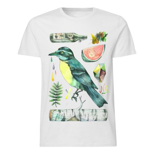 Yackfou Kolibri T-Shirt white made of 100% organic cotton // Organic and Fair