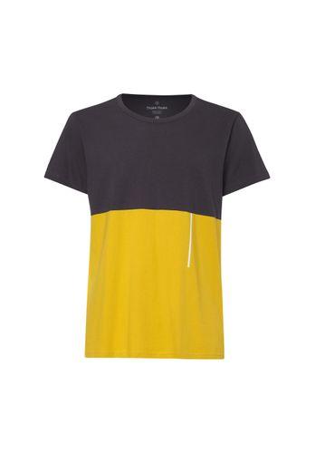 ThokkThokk Herren T-Shirt Dunkelgrau Gelb Bio Fair