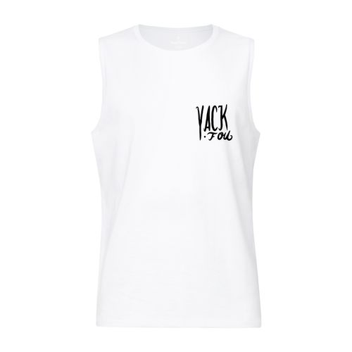 Yackfou Hackfou Sleeveless Shirt white made of 100% organic cotton // Organic and Fair