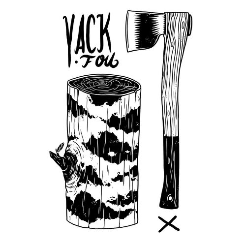 Yackfou Hackfou Unisex Baseball-T-Shirt White/Black made of 100% organic cotton // Organic and Fair