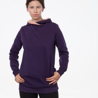 Bild 6 - TT1026 Cross Hoodie Eggplant Woman GOTS & Fairtrade