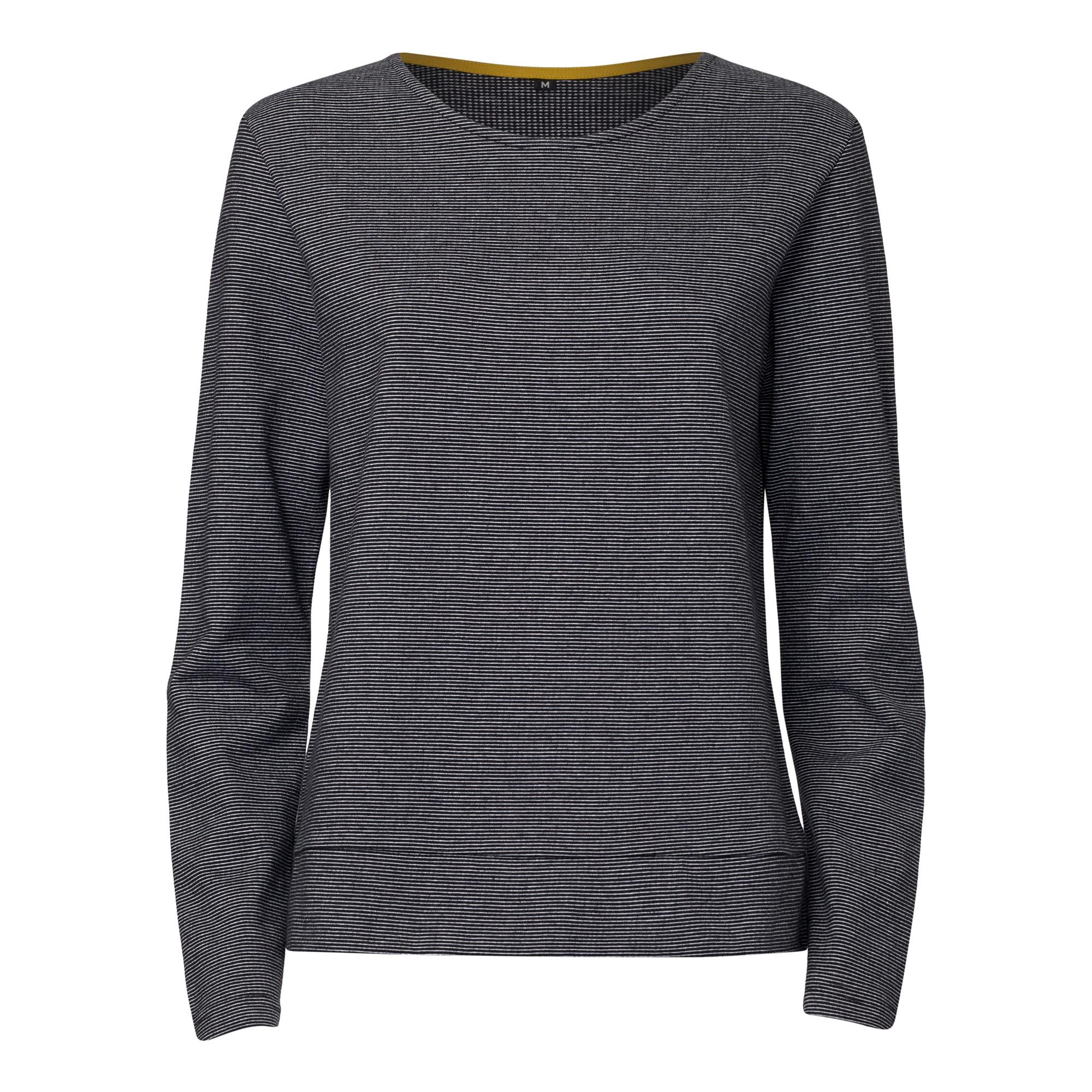 TT1027 Box Sweater Microstripes Woman GOTS & Fairtrade