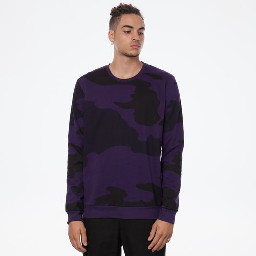 ThokkThokk Landscape TT29 Pullover Man eggplant made of 100% organic cotton // GOTS & Fairtrade certified