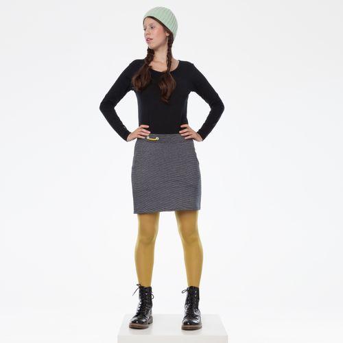 ThokkThokk TT1033 Miniskirt Black/White Striped made of organic cotton // Organic and Fairtrade certified