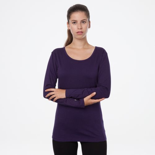 ThokkThokk TT32 Longsleeve Eggplant made of 100% organic cotton // GOTS and Fairtrade certified
