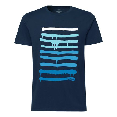 Yackfou Dripline T-Shirt navy made of 100% organic cotton // Organic and Fair