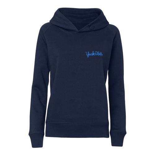 Yackfou Dripline Hoodie navy made of organic cotton // Organic and Fair