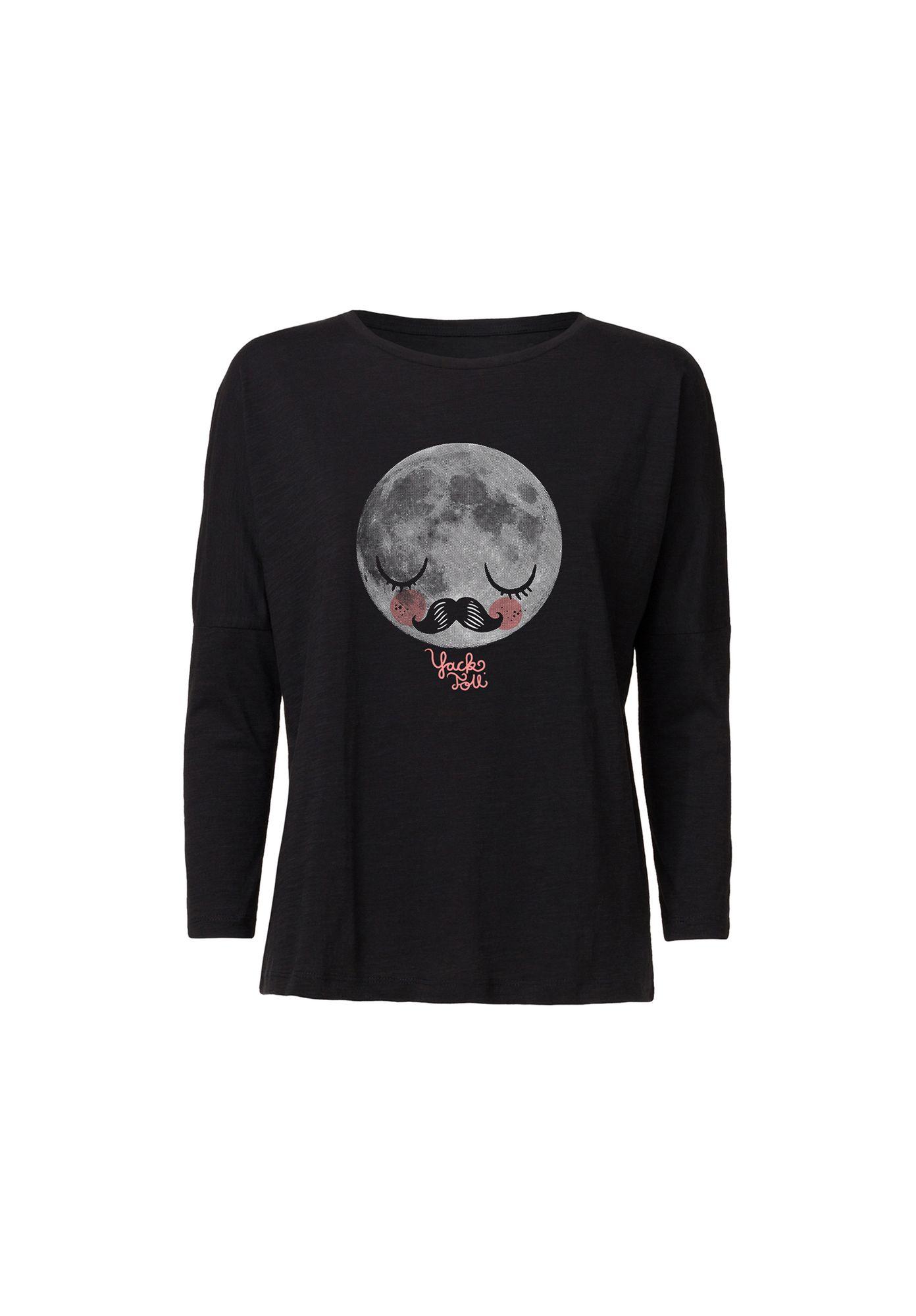 Drop-Shoulder Longsleeve Moon Black