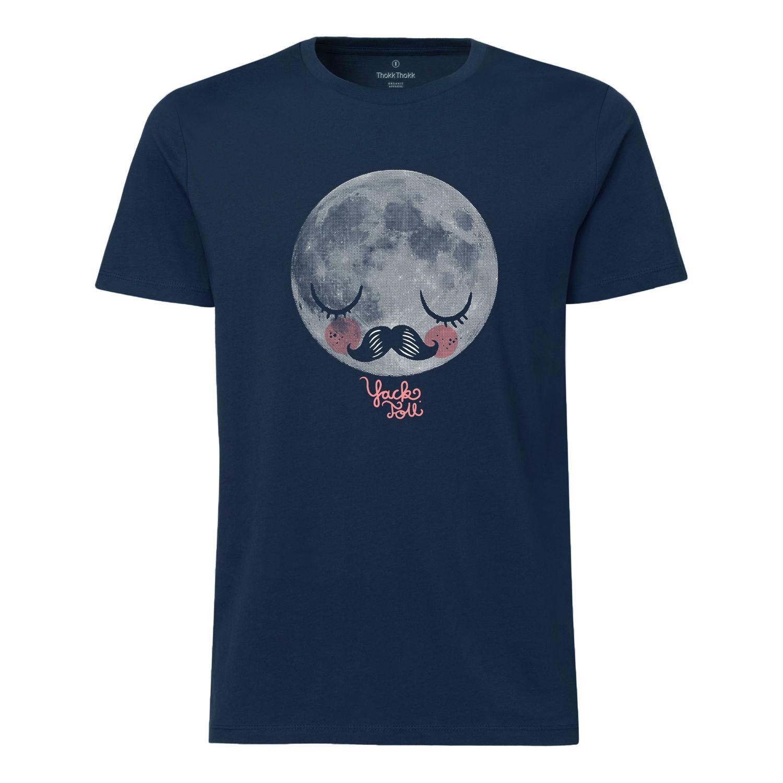 Yackfou Moon Herren T-Shirt navy Bio & Fair