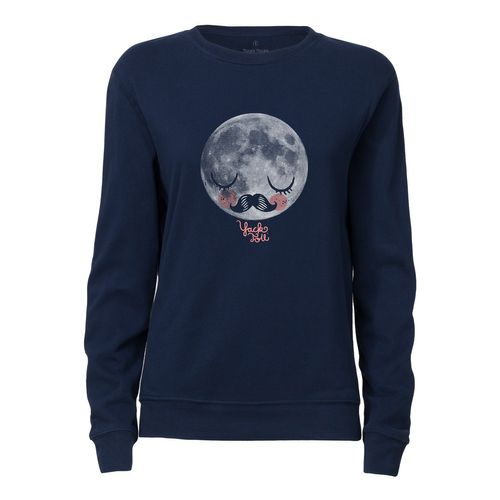 Yackfou Moon Round Neck Sweatshirt navy made of 100% organic cotton // Organic and Fair