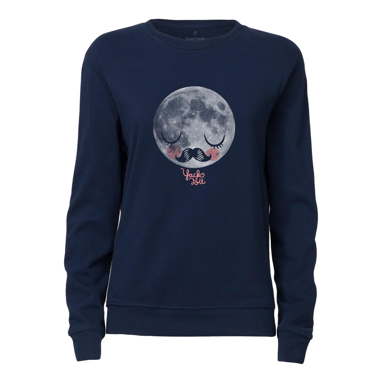 Yackfou Moon Damen Rundhals Sweatshirt navy Bio & Fair