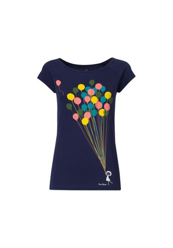FellHerz Damen T-Shirt Balloons Girl Dunkelblau Bio Fair