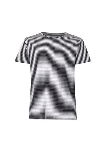 ThokkThokk TT65 T-Shirt B&W Stripes made of 100% organic cotton // GOTS and Fairtrade certified