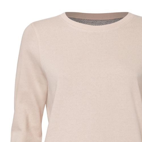 ThokkThokk Boxy Sweatshirt Faded Nude/Navy Twist made of 100% organic cotton // Organic and Fair